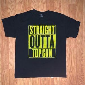 straight outta topgun t-shirt